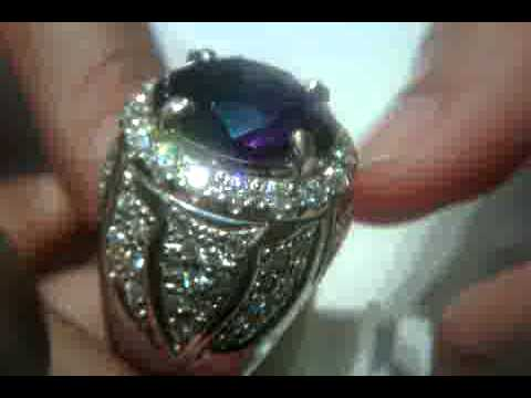 2 Borneo Amethyst Rings Great Luster