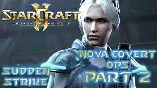 Let's Play: StarCraft 2 - Nova Covert Ops - Mission 2 - Sudden Strike - Jetpack Online