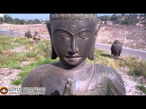SOLD Stone Abhaya Garden Buddha Statue 33