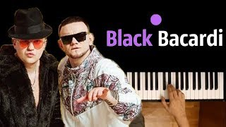 GAZIROVKA - Black ● караоке | PIANO_KARAOKE ● ᴴᴰ + НОТЫ & MIDI |