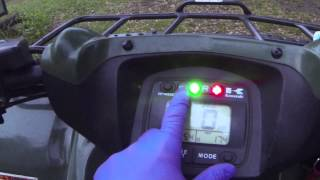 10. Kawasaki Brute Force 650/750 belt light reset How To Tutorial