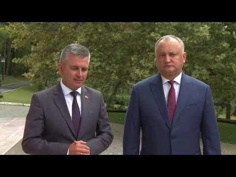 Президент Игорь Додон провел встречу с руководителем Приднестровья Вадимом Красносельским