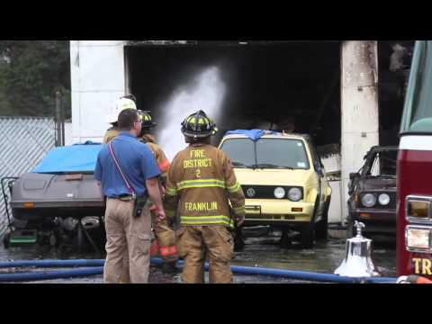 Fire destroys Classic Motors auto on Rt 27