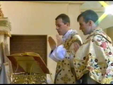 mass - Traditional Latin Mass filmed on the Feast of the Sacred Heart in the small chapel of the International Seminary of Saint Cure d'Ars, Flavigny, France, in 19...