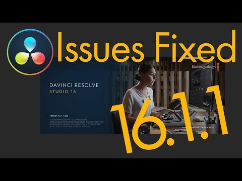 DaVinci Resolve 16.1.1 Aimed To Fix Issues