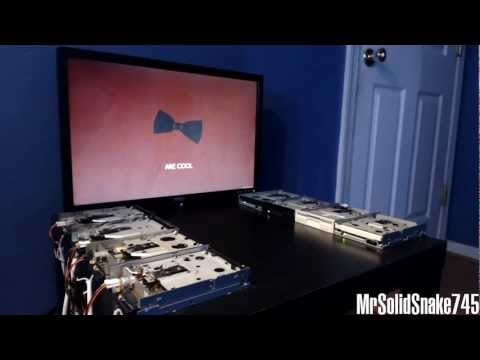 Doctor Who Theme on eight floppy drives