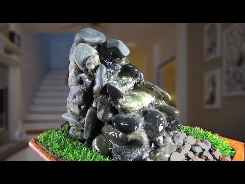 How to make Fountain Waterfall used Stones/DIY FOUNTAIN