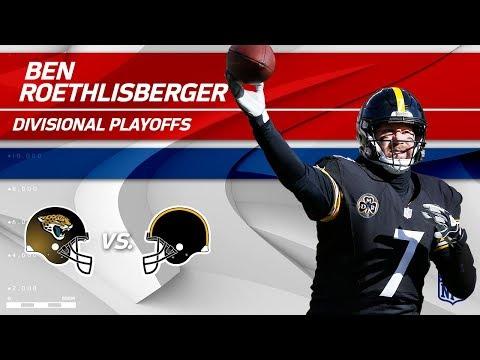 Video: Ben Roethlisberger's Unbelievable 5 TDs!   Jaguars vs. Steelers   Divisional Round Player HLs