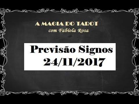 Previsão para todos os Signos 24/11/2017  A MAGIA DO TAROT com Fabíola Rosa