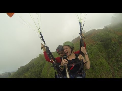 jerico antioquia colombia - Flying Paragliding with Georgina Leach in Jerico Antioquia - Colombia - Aug 17, 2013.