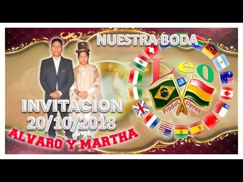 Tarjetas de amor - INVITACION NUESTRA BODA ALVARO Y MARTHA 20/10/2018 SP- BRASIL