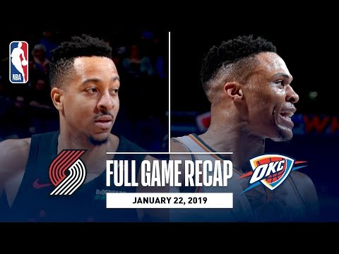 Video: Full Game Recap: Trail Blazers vs Thunder | Paul George & Russell Westbrook Combine For 65 Points