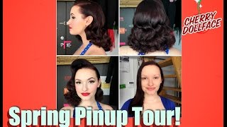 Vintage Hair and Makeup Makeover Tour Spring 2017! by CHERRY DOLLFACE