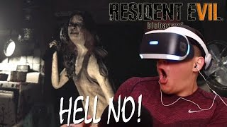 GIRL PUT THAT KNIFE DOWN! | Resident Evil 7 [Playstation VR](CRAZY)