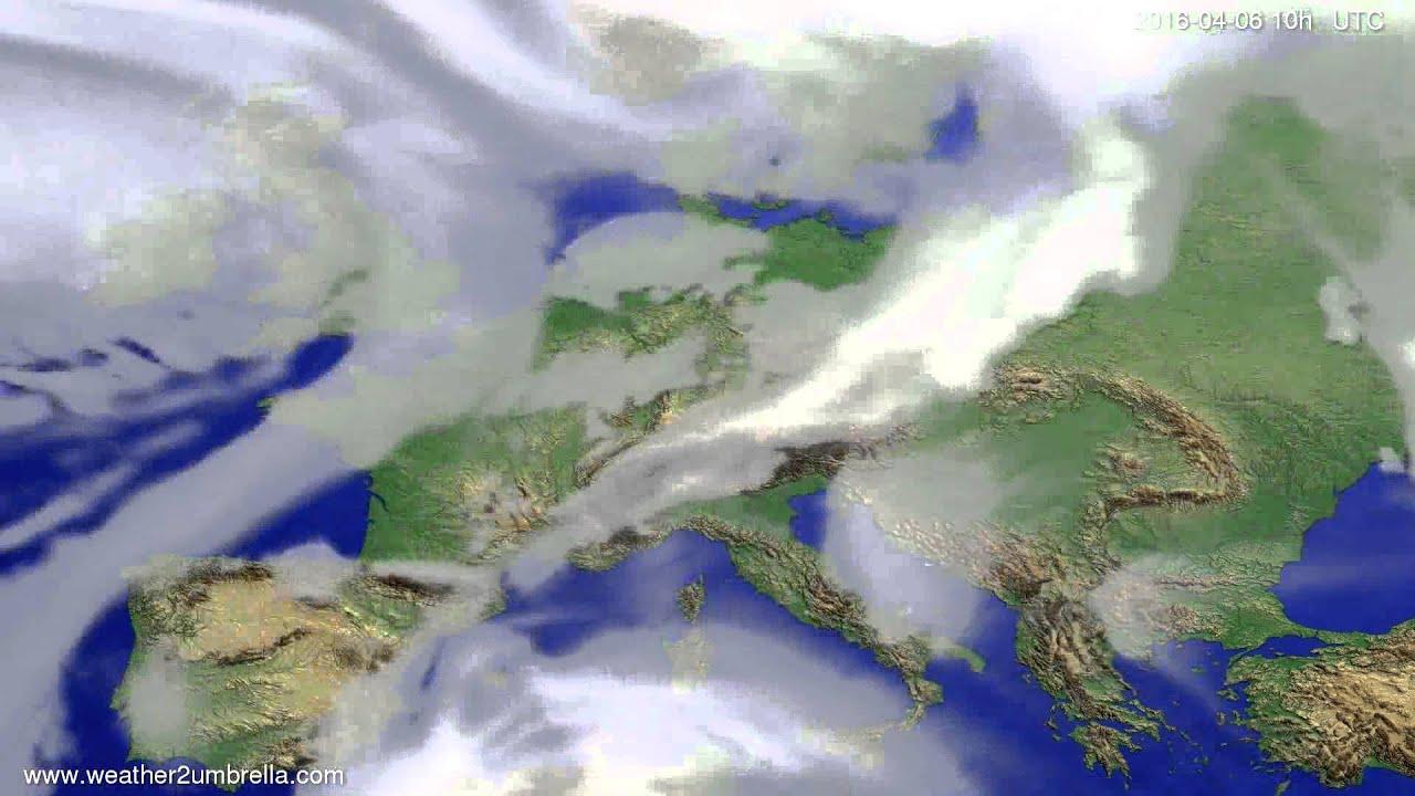 Cloud forecast Europe 2016-04-04