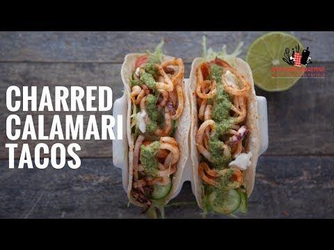 Mission Charred Calamari Tacos   Everyday Gourmet S6 E32