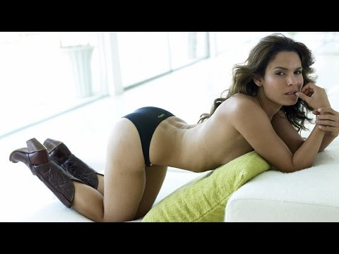 Actress Nadine Velazquez dances in bikini and thigh high boots on tv show