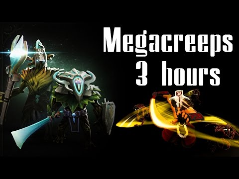 3 Hours Epic Defense vs Megacreeps - Chinese Dota 2