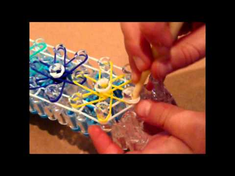 How to Make a Starburst Rubber Band Bracelet on a Rainbow Loom