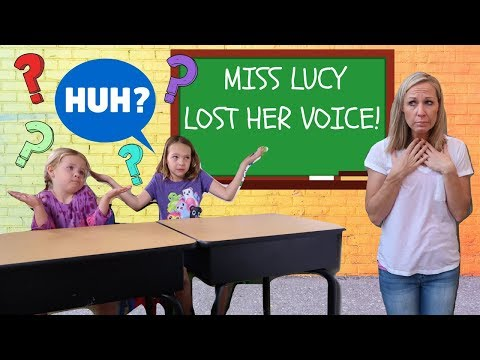 Miss Lucy Loses Her Voice at Pretend Toy School !!!