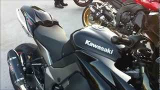 5. Kawasaki 1000cc 2011 Walk Around Engine Sound Yoshimura Exhaust Revving Sport Touring Motorcycle