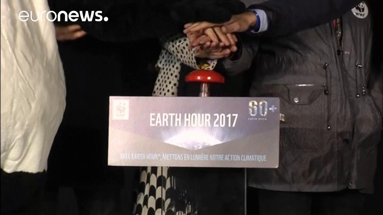 Η ώρα της Γης: Παρθενώνας και Πύργος του Άιφελ