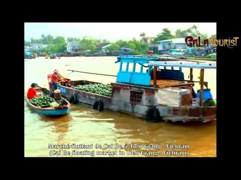 Marché flottant de Cai Be à Tien Giang (Cai Be floating market - Galatourist)