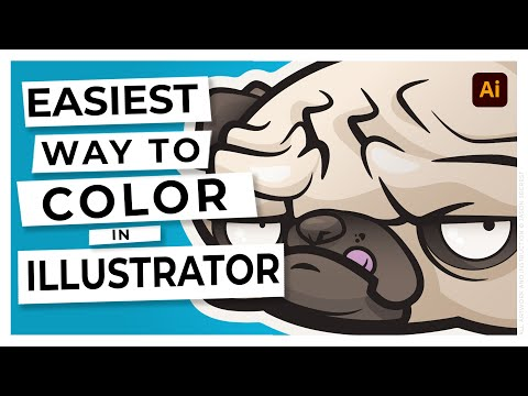 Adobe Illustrator CC Tutorial For Beginners: Adding Color