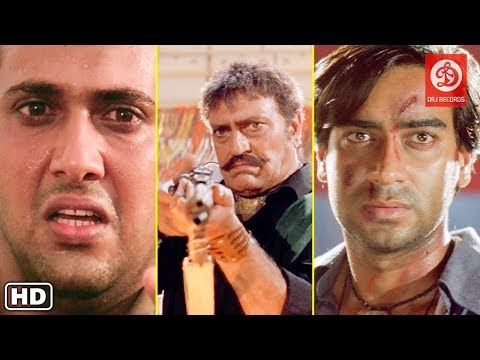 Top Fight Scenes - Ajay devgan, Govinda & Amrish Puri - Back to Back Bollywood Action Dhamaka Movies