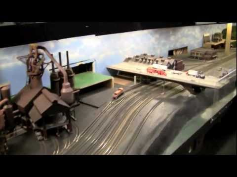 ho scale - This video does not do this layout justice. I wasn't even going to upload this but I needed to make some room on my hard drive. I didn't have a lot of time t...