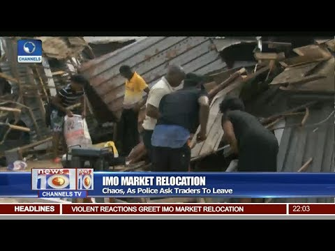 Traders In Imo Market Forcefully Ejected By Police 26/08/17 Pt.1 |News@10|