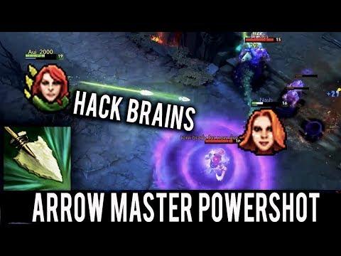 WTF Arrow Master Powershot ► Aui_2000 Hack Brains with Windranger Dota 2