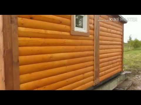 Видеообзор деревянного дома из профилированного бруса серии «Премиум» со встроенной сантехникой