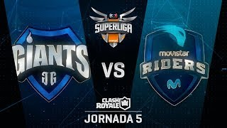 SUPERLIGA ORANGE - GIANTS GAMING VS MOVISTAR RIDERS - Jornada 5 - #SuperligaOrangeCR5