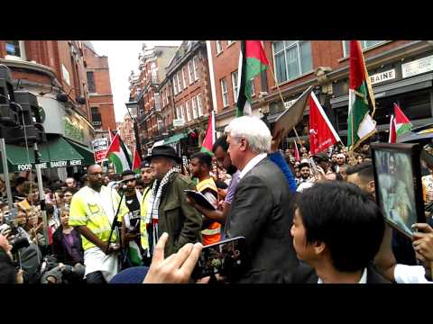 George Galloway Speech Protest outside Israeli Emb