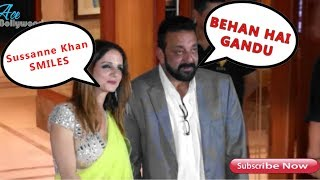 Drunk Sanjay Dutt Says गांडू To Media In Front Of Sussan Khan At His Diwali Party