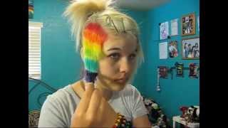 How to do Rainbow hair - YouTube