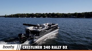Take a ride with boats.com Senior Editor Lenny Rudow on the all new 2017 Crestliner 240 Rally DX. This tri-toon boat is offered in 5 different floor plans and includes a variety of onboard amenities. RELATED VIDEOS & PLAYLISTS:Boat Review / Performance Test - https://www.youtube.com/playlist?list=PL05F14609E2F696DFPontoon Boats, aka Party Barges - https://www.youtube.com/playlist?list=PLsiC-0C78AkExayarpDhG3pRlpmrV3L3LSubscribe to our boats.com channel: https://www.youtube.com/user/boatsdotcomFor more boating videos, visit http://www.boats.com.boats.com features boat reviews, how-to videos, special features, and information about new boats, boats for sale, and boating products—usually with a dash of fun.Our reviewers test the features, performance, and specifications of each boat, searching out the hidden details for a critical evaluation. If you're shopping for a boat, we want to help you make the best choice. And if you're just looking, we'll try to make it fun too. Subscribe to receive notification of new videos.
