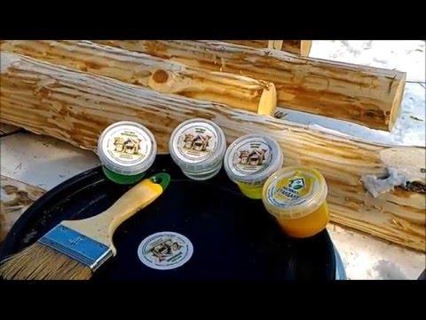 Как выбрать огнезащитную пропитку для обработки сруба из бревна и бруса
