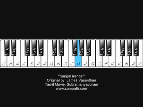 James Vasanthan - Kangal irandal - By James Vasanthan - Piano Tutorial Tamil Movie: Subramaniyapuram.