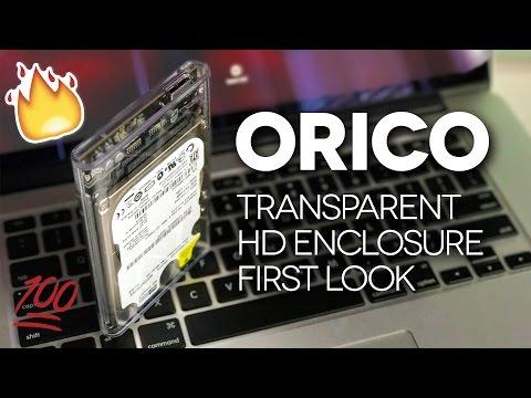 TRANSPARENT EXTERNAL HARD DRIVE! - ORICO Transparent Enclosure UNBOXING & REVIEW