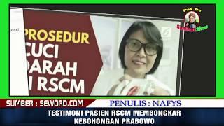 Video Testimoni Pasien RSCM Yang Membongkar Kebohongan Prabowo! MP3, 3GP, MP4, WEBM, AVI, FLV Maret 2019