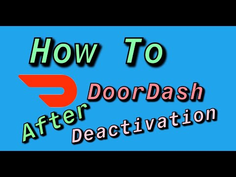 How To DoorDash Again After Deactivation! (Only Video That Works!)