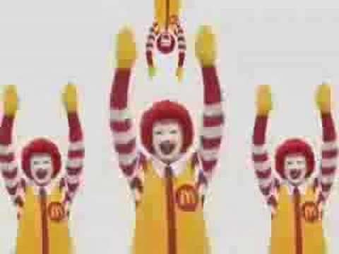 mcdonalds - after watching the compleate video, people become posesed . 1 in 4 people stab there own eyes out during the video, so for leagle reason; WATCH AT YOUR OWN R...