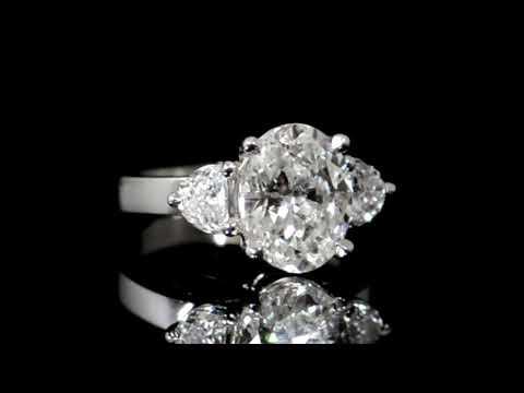 經GIA鑑定3.50克拉鑽石戒指