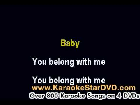 Taylor Swift – You Belong To Me – Karaoke Music With Lyrics