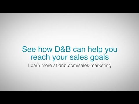 Use D&B data to reach your sales goals by implementing it into your marketing strategy.