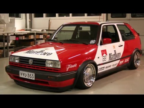 Marlboro Racing livery for Mk2 Golf GTi // Partial wrap + Decals //