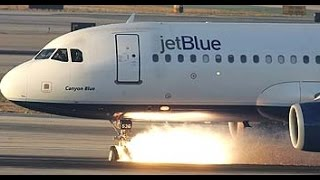 JetBlue A320 lands after landing gear failure.