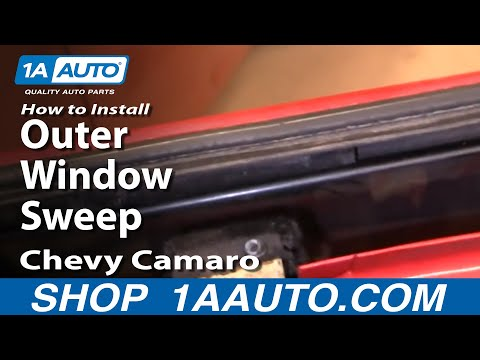 How To Install Remove Outer Window Sweep 82-92 Chevy Camaro IROC-Z and Pontiac Trans Am 1AAuto.com